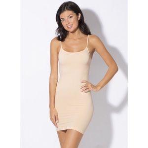 New Smart & Sexy Beige Smooth Seamless Slip Dress